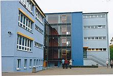 Schulhof, Speiseraum, Medienraum