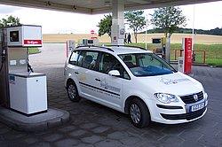 Erdgas-Tankstelle
