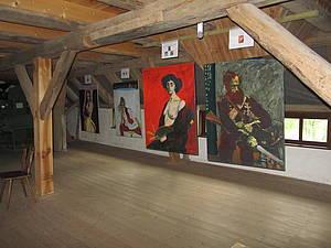 Ausstellungsboden Wassermühle Ziddorf Foto Koch