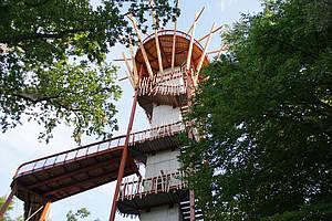 Aussichtsplattform Baumkronenpfad Ivenacker Eichen Foto: Landesforst
