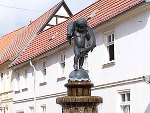 Hechtbrunnen Teterow Foto Koch