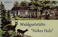 "Logo Ausflugsgaststätte ""Hohes Holz"""