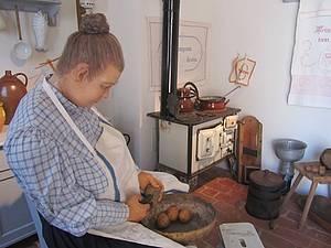 Historische Küche Foto Koch