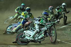 Speedway in der Bergring-Arena Foto: D. Sievers