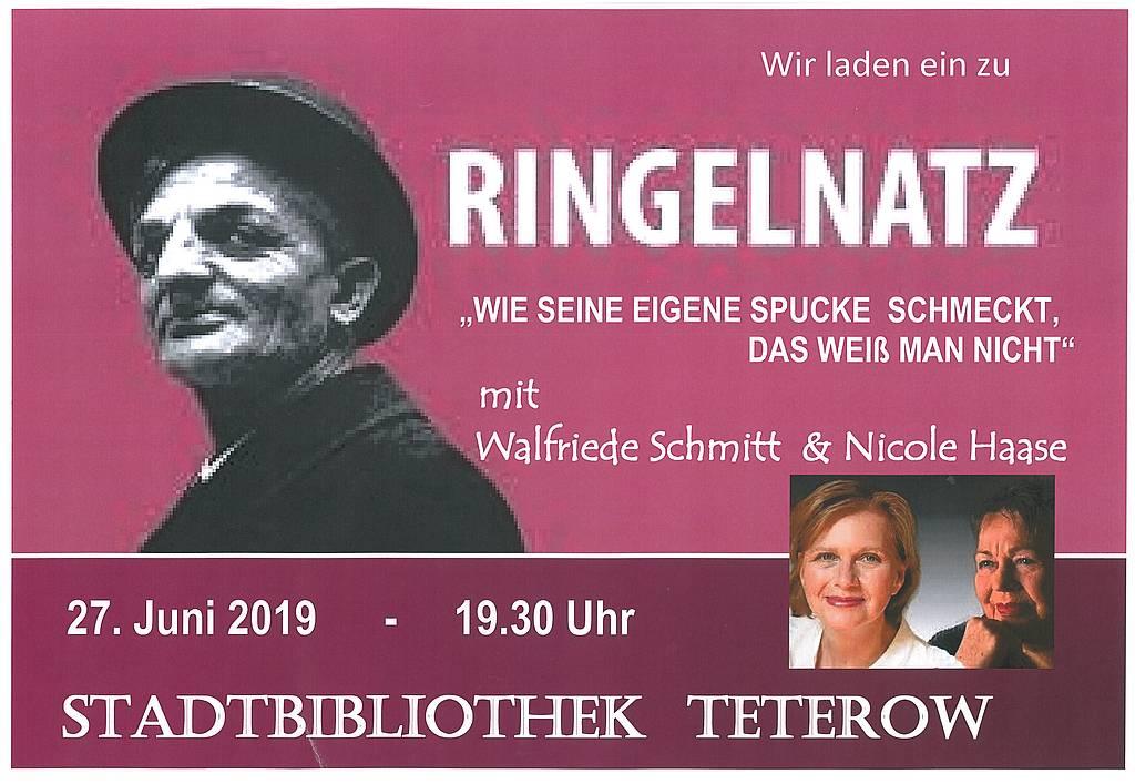 Das Joachim Ringelnatzprogramm in der Stadtbibliothek Teterow