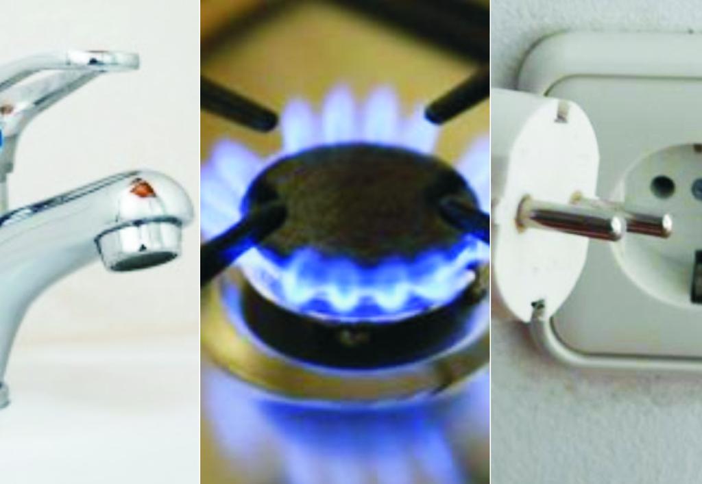 Strom, Gas, Wasser